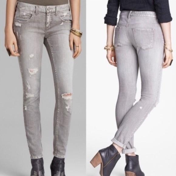 Free People Denim - Free People Destroyed Skinny Jeans Meg's Denim